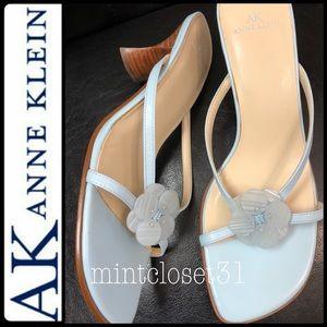 AK Anne Klein Leather Sandal Heels